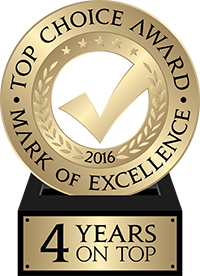 Top Choice Award - Mark of Excellence 2016 - 4 Years on Top